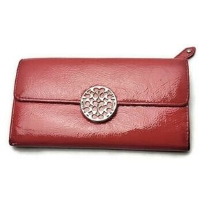 Coach Red Patent Leather Large Wallet x
